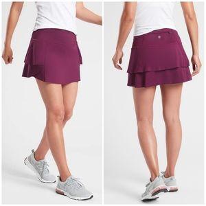 NWT Athleta Momentum Skirt Plum/Magenta Medium